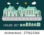 house set green tone concept... | Shutterstock .eps vector #275621366