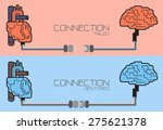 connection of brain and heart ... | Shutterstock .eps vector #275621378