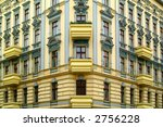 Old apartment building in Berlin, about 100 years old - stock photo