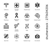 medical   health care icons  ... | Shutterstock .eps vector #275634206