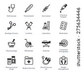 medical   health care icons set ... | Shutterstock .eps vector #275634446