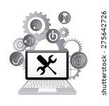 technical support design ... | Shutterstock .eps vector #275642726