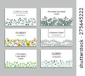 set of business cards with... | Shutterstock .eps vector #275645222