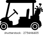 golf cart with clubs | Shutterstock .eps vector #275646605