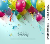 birthday greeting card with... | Shutterstock .eps vector #275655002