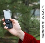 stylish mobile phones in female ... | Shutterstock . vector #27565771