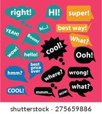 chat  speech  bubbles icons ... | Shutterstock .eps vector #275659886