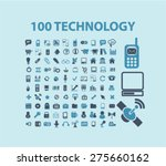 100 technology  communication ... | Shutterstock .eps vector #275660162