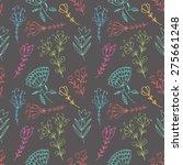 hand drawn doodle vintage... | Shutterstock .eps vector #275661248