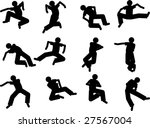 high action silhouettes drawn... | Shutterstock .eps vector #27567004