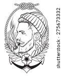 hand drawn portrait of bearded... | Shutterstock .eps vector #275673332