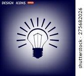 bulb icon. icon. vector design