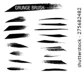 set of hand drawn grunge brush | Shutterstock .eps vector #275682482
