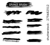 set of hand drawn grunge brush | Shutterstock .eps vector #275682512