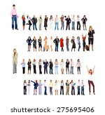 office culture many colleagues    Shutterstock . vector #275695406