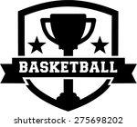 basketball emblem design cup | Shutterstock .eps vector #275698202