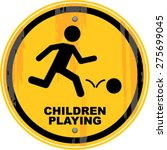 Children Playing  Sign   Vector ...