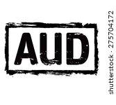 black vector grunge stamp. aud  ...   Shutterstock .eps vector #275704172