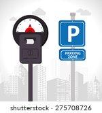 parking design over white... | Shutterstock .eps vector #275708726
