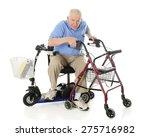 a senior man transferring from... | Shutterstock . vector #275716982