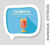 halloween cocktail flat icon... | Shutterstock .eps vector #275720132