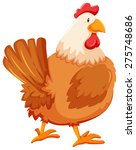 chicken on a white background | Shutterstock .eps vector #275748686
