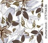 vector seamples flower texture  | Shutterstock .eps vector #275756636