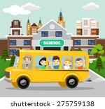 Vector School Flat Illustration