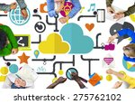 social media social networking... | Shutterstock . vector #275762102