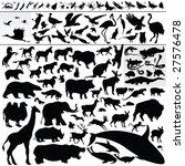 Stock vector animal silhouettes 27576478