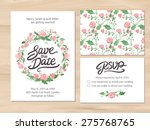 wedding set with watercolor... | Shutterstock .eps vector #275768765
