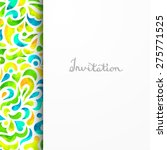 beautiful card for invitation...   Shutterstock .eps vector #275771525