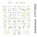 cute alphabet. letters and... | Shutterstock .eps vector #275773022