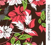 vector seamples pattern flower    Shutterstock .eps vector #275774186