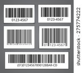 bar codes set of white sticky... | Shutterstock .eps vector #275774222