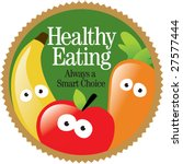 round healthy eating label  add ... | Shutterstock .eps vector #27577444
