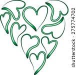 heart shapes | Shutterstock .eps vector #275774702