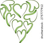 vector lines heart shapes | Shutterstock .eps vector #275777912