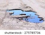 pothole | Shutterstock . vector #275785736