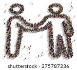 large group of people seen from ... | Shutterstock . vector #275787236