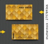 business card template with... | Shutterstock .eps vector #275789366