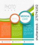 colorful medical care template  ... | Shutterstock .eps vector #275791352