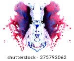 purple  blue with black patches ... | Shutterstock .eps vector #275793062