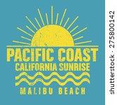 malibu beach typography  t... | Shutterstock .eps vector #275800142