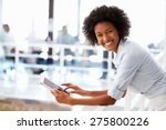 portrait of smiling woman in... | Shutterstock . vector #275800226