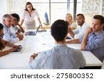 businesswoman presenting to... | Shutterstock . vector #275800352
