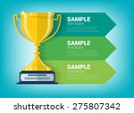 graphic information with winner ... | Shutterstock .eps vector #275807342