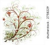 beauty flowers background | Shutterstock .eps vector #2758229
