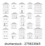buildings set.  | Shutterstock .eps vector #275823065