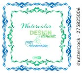 vector set of watercolour page... | Shutterstock .eps vector #275825006